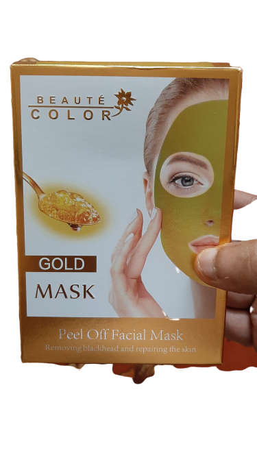 Beaute Color Peel Of Gold Collagen Mask - 10 Sachet Pack