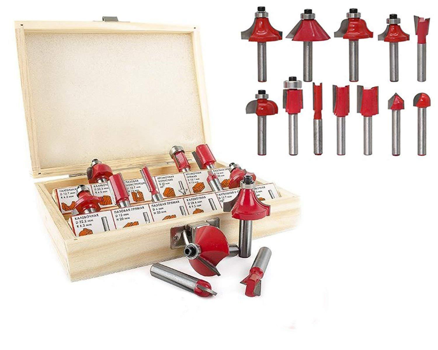 406 -12/15pcs Milling Cutter Router Bit Set