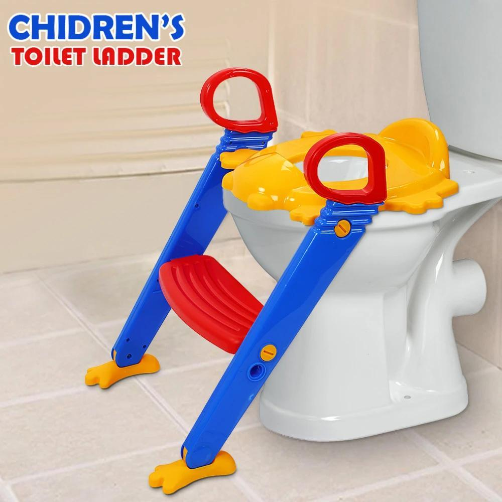 344 -3 in 1 Kids/Toddler Potty Toilet Seat with Step Stool Ladder (Multicolour)