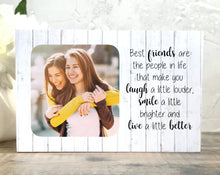 Load image into Gallery viewer, 1014 - Best Friend Birthday Gift Photoblock - Best friends are the people...
