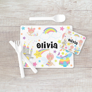 8007 - Fairy Castle Print Placemat & Coaster