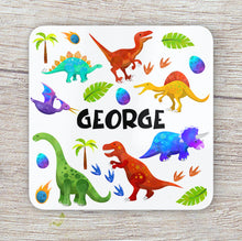 Load image into Gallery viewer, 8001 - Dinosaur Print Placemat & Coaster