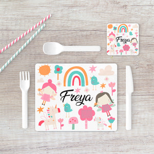 8002 - Fairy Print Placemat & Coaster
