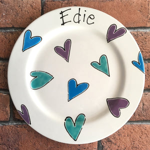9003 - Standard Size Personalised Hand Painted Ceramic Plate