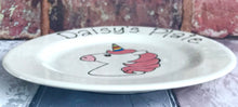 Load image into Gallery viewer, 9004 - Personalised Hand Painted Ceramic Unicorn Plate