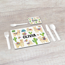 Load image into Gallery viewer, 8008 - Llama Print Placemat & Coaster