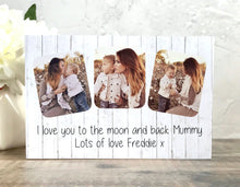Load image into Gallery viewer, 1055 - Mummy Photoblock - I love you to the moon...