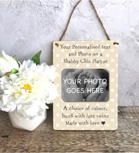 Load image into Gallery viewer, 1116 - Wooden Wall Hanging Plaque - Any Text, Any Photo, Any Occasion