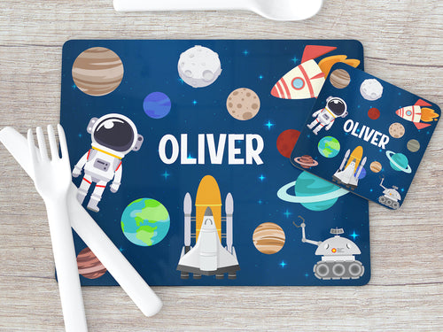8010 - Space Print Placemat & Coaster