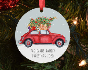 Christmas Tree Decoration - Traditional Car with Tree