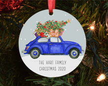 Load image into Gallery viewer, Christmas Tree Decoration - Traditional Car with Tree