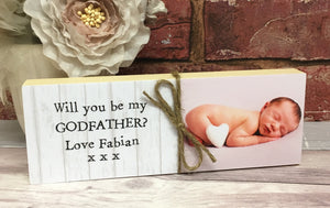 1100 - Will you be my Godmother/Godfather Gift Photoblock