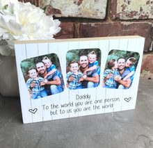 Load image into Gallery viewer, 1039 - Daddy Photoblock - Love you to the moon and back...