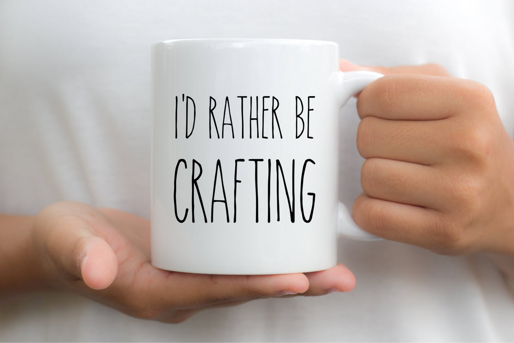 7030 - I'd Rather be Crafting Mug