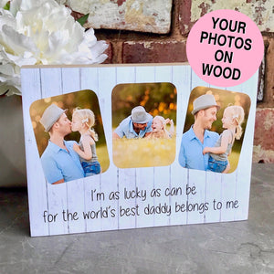 1039 - Daddy Photoblock - Love you to the moon and back...