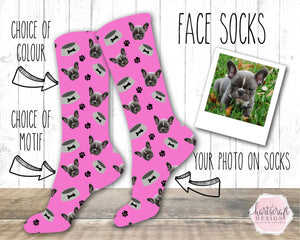 6001 - Custom Dog Face Photo Socks