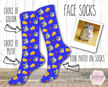 Load image into Gallery viewer, 6007 - Custom Hamster Face Photo Socks