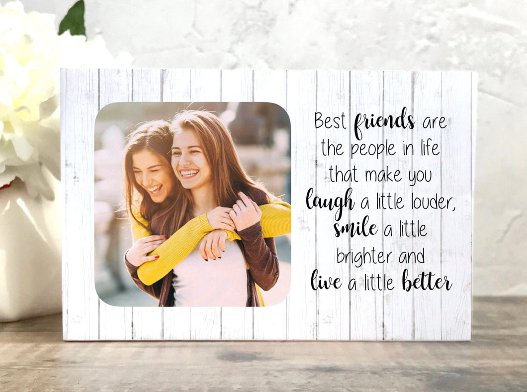 1014 - Best Friend Birthday Gift Photoblock - Best friends are the people...