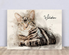 Load image into Gallery viewer, 4002 - Custom Cat Watercolour Canvas
