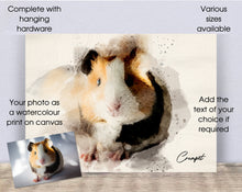 Load image into Gallery viewer, 4005 - Custom Guinea Pig Watercolour Canvas