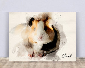 4005 - Custom Guinea Pig Watercolour Canvas