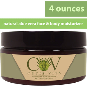 Natural Moisturizing Cream – Aloe Vera and Shea Butter developed for Eczema Rosacea Psoriasis Rashes Redness and Cracked Itchy Skin Relief – Relieve Dry Skin Naturally (4 .oz Jar)