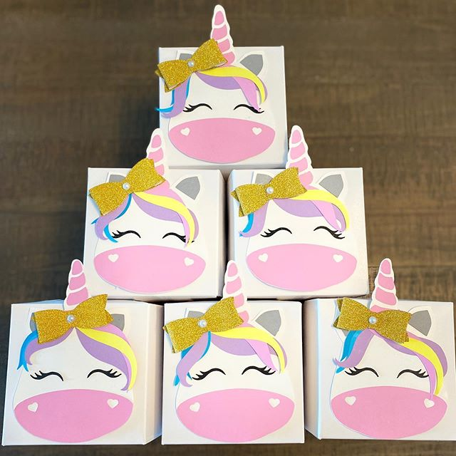 unicorn cupcake box