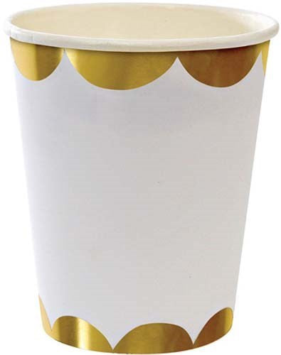 Gold Scallop Party Cups