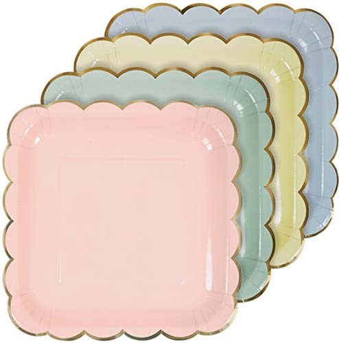 Assorted Pastel Plates (large)