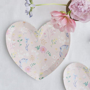 Wildflower Heart Plates - Large
