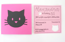 Load image into Gallery viewer, kitty cat party invitation