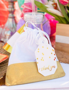 Party Favor Bags - Gold