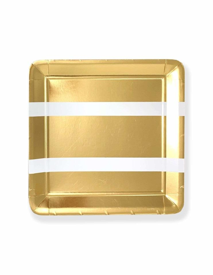 Party Plates ( Square Gold)