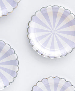 Powder Blue Stripe Party Plates (small)