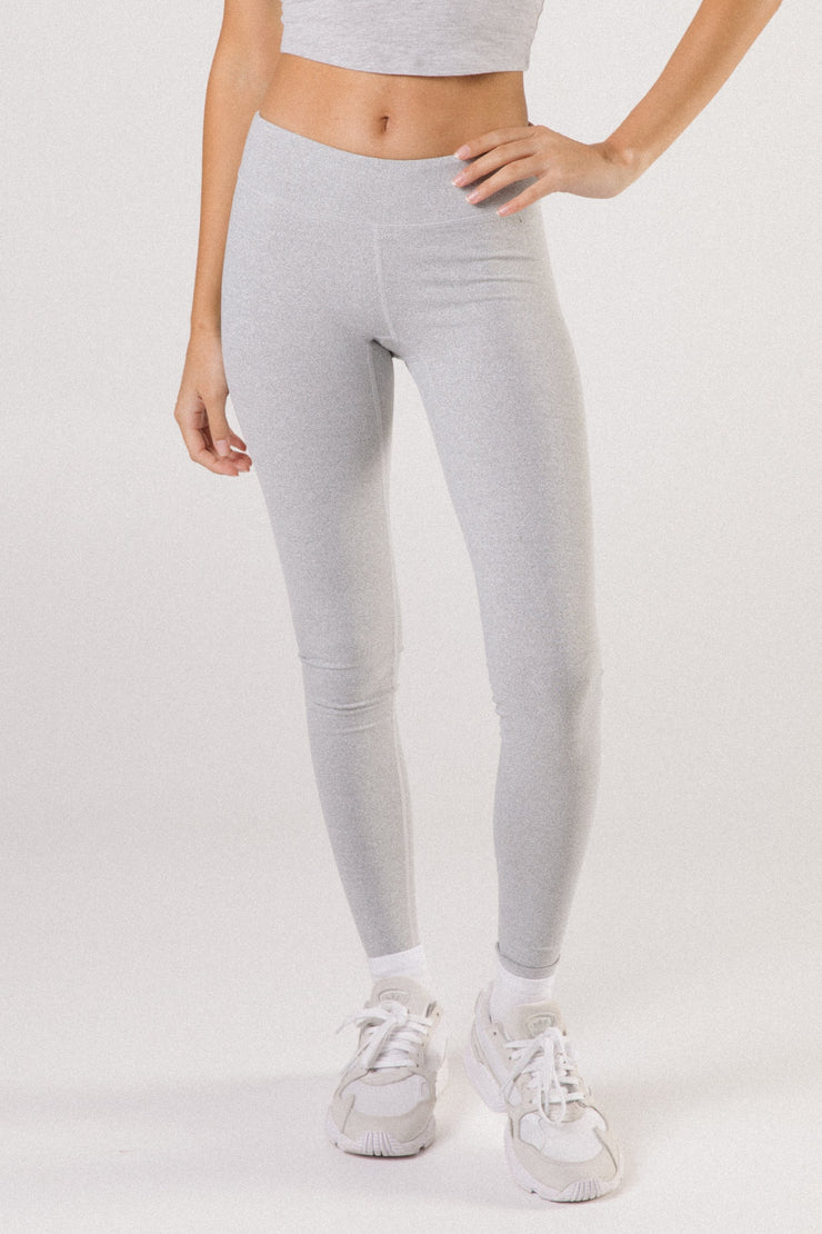 Marble Grey Mid Waist Leggings