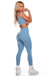 Steel Blue High Waist Leggings