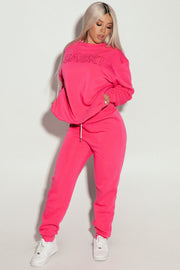 Dark Pink Sweats
