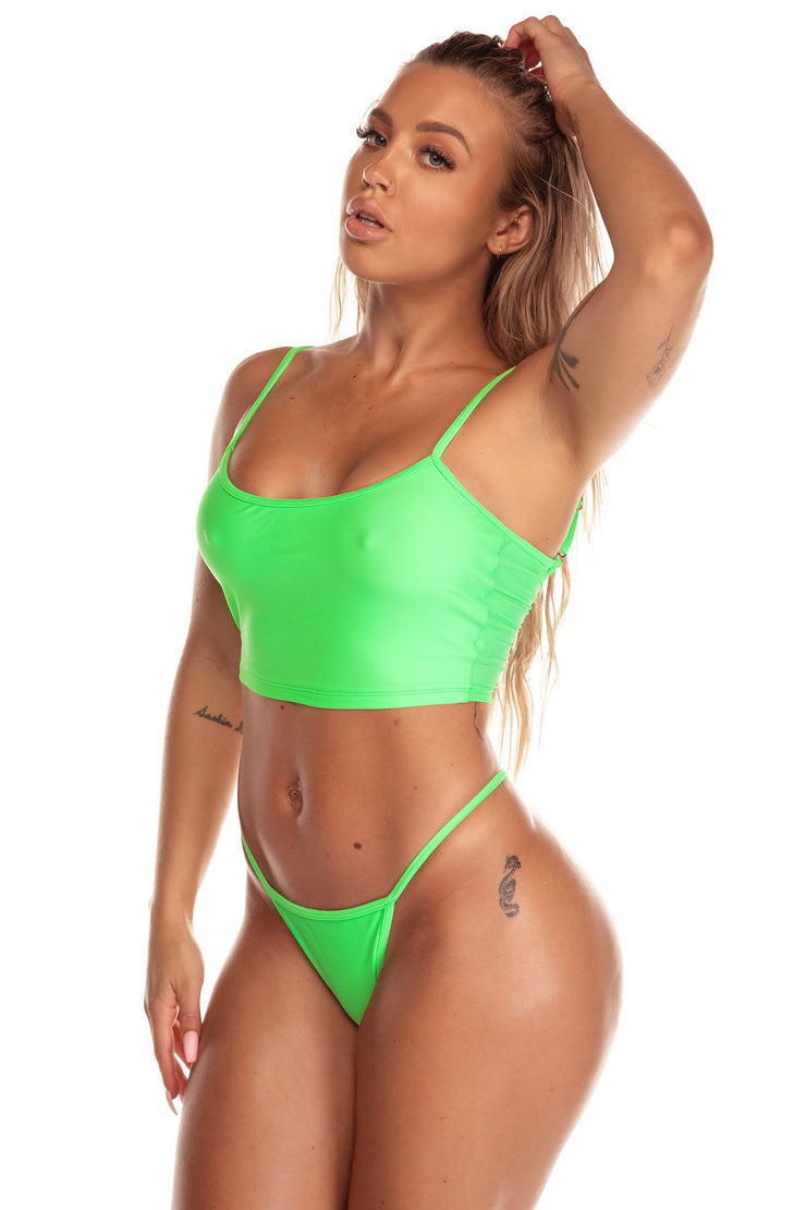 The Luna Top | Neon Green