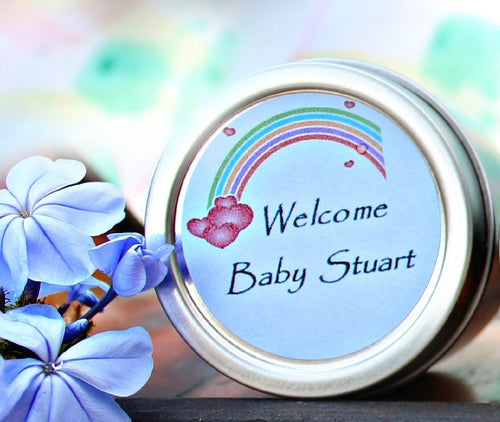 baby shower favor candle