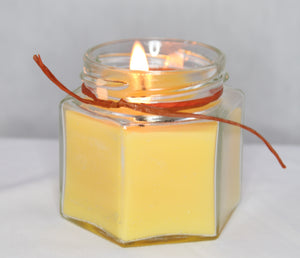 scented beeswax candle