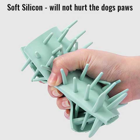 Nodules inside the pet paw washer gently clean your dogs paws one at a time