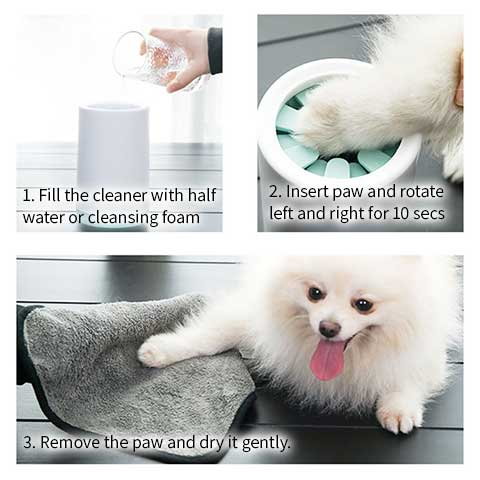 how to use the pet paw washer