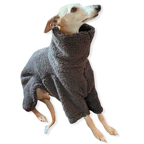 for the trendy whippet in your life. This teddy bear super thick, extra soft fleece is perfect on those cold winter nights