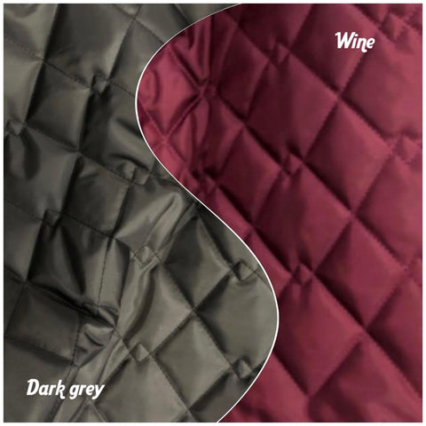 New colours for 2021 - waterproof quilted padded fleece lined extra warm whippet coat with harness hole