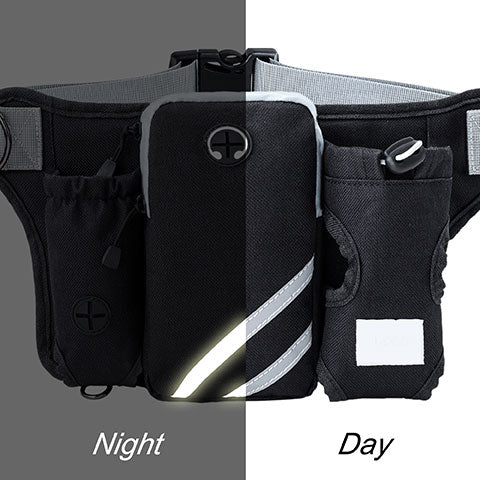 utility belt has reflective strips for safety