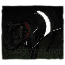 Load image into Gallery viewer, reflective safety dog coat on staffordshire bull terrier