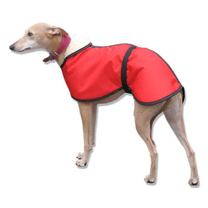 Red summer whippet coat. waterproof windproof