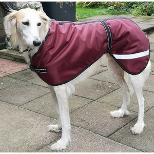 saluki coats - waterproof, fleece lined, reflective for safety