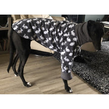 Load image into Gallery viewer, fleece pyjamas with two legs or four legs 4. Trendy whippets drydogs.co.uk