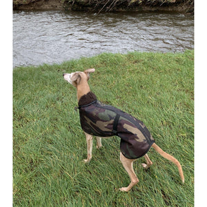 Camouflage greyhound coats uk. hunting greyhound coat. winter greyhound wear
